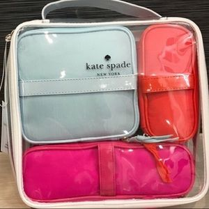 Brand new KATE SPADE 4 pc set zip bag organizer